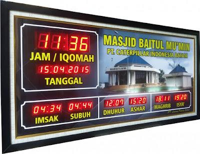 Jual Jam Digital Masjid Iqomah Murah