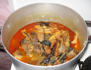 Cooking Nigerian groundnut soup step by step pics 04