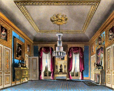Ante Room, Carlton House, from The History of the Royal Residences by WH Pyne (1819)