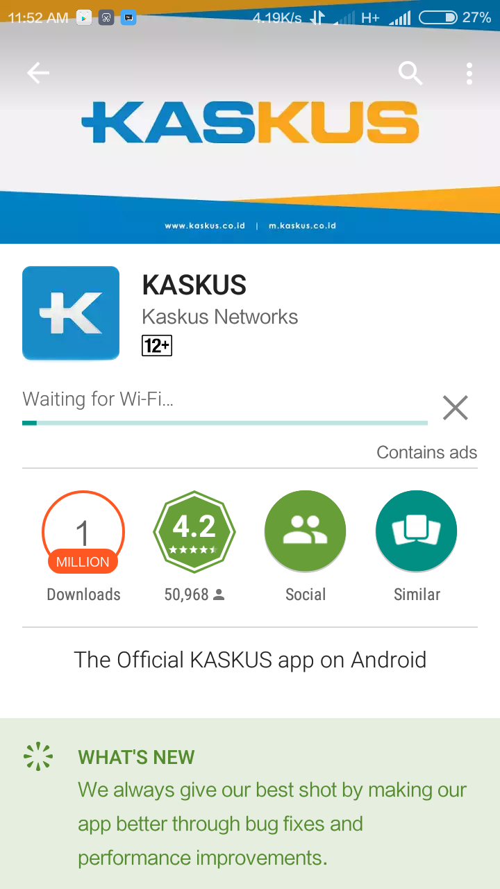 cara mengatasi waiting for network play store