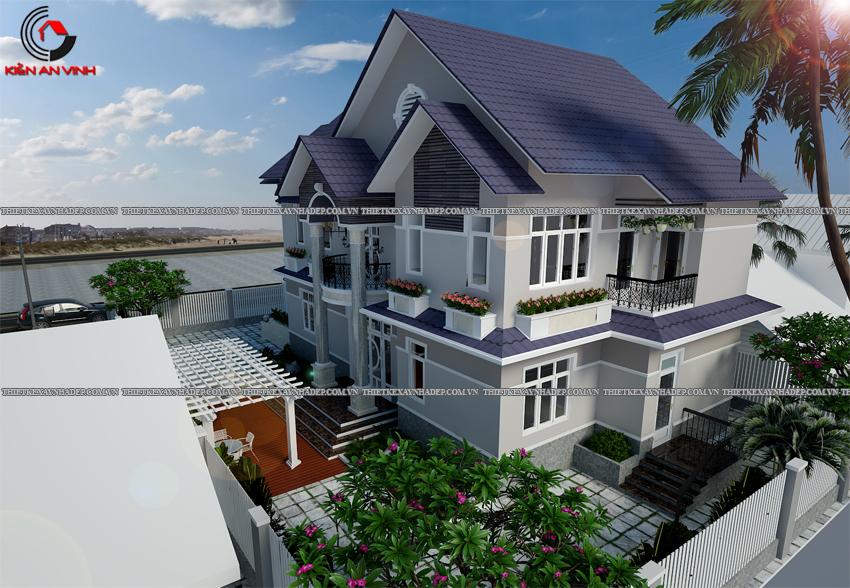 Mẫu thiết kế biệt thự nhà vườn 1 tầng đẹp hiện đại dt 150m2 Thiet-ke-biet-thu-1-tang-150m2-4