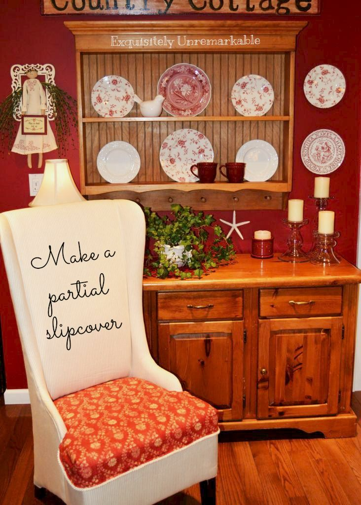 Partial Chair Slipcover DIY
