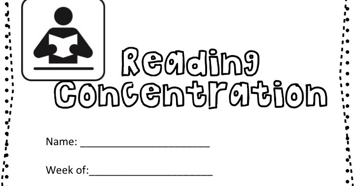 Classroom Freebies Too: Reading Concentration