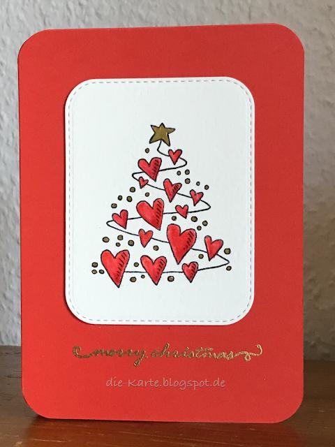 """""""Herzlicher Weihnachtsbaum"""" Heindesign, """"merry christmas"""" Stempelset Winter, Depot"""