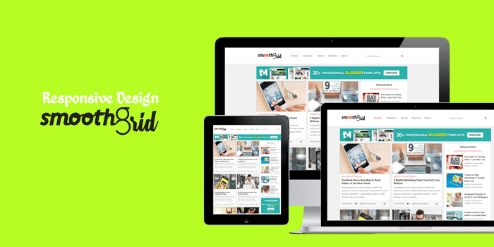 Smooth Grid Responsive designed blogger template