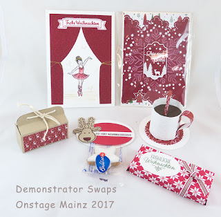 Demonstrator Swaps Onstage Mainz 2017 Stampin up schachteln karten geschenke weihnachtsdeko susis basteltipps
