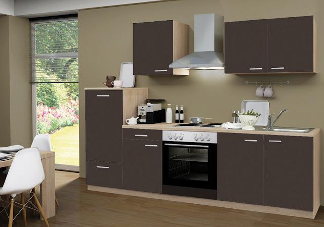 Küchenzeile 270 Cm Mit Elektrogeräten