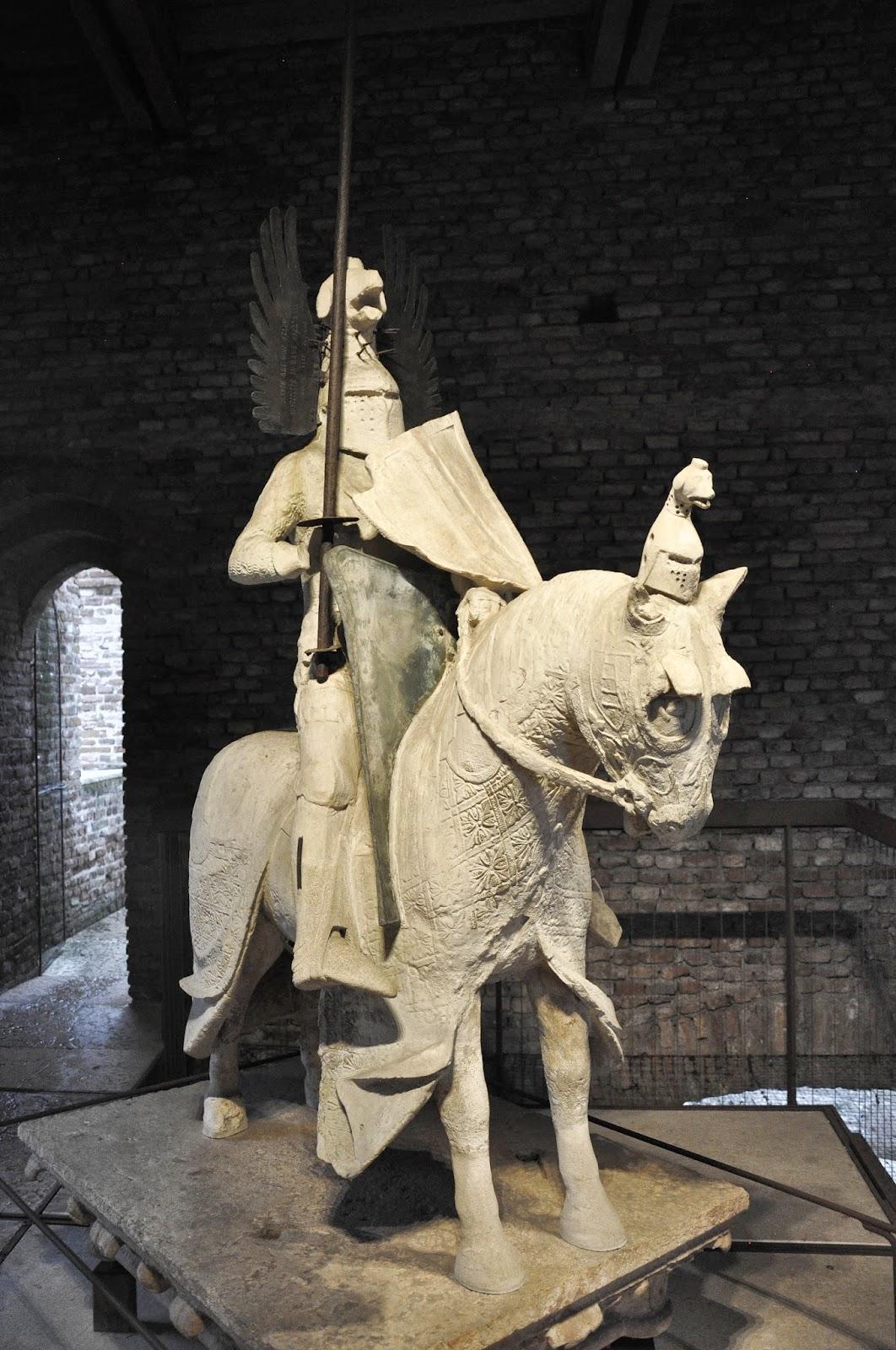 A knight in full armour in Castelvecchio in Verona