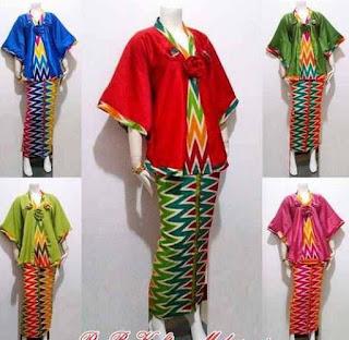 Model Baju Batik Setelan kombinasi modern
