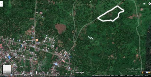 Jual Tanah Kebun Subur 17559 M2, Pinggir Jalan, diduga ada emas.