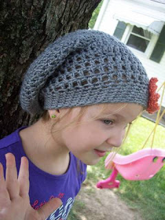 Swirls and Sprinkles: Crochet Slouchy hat by Stitch11