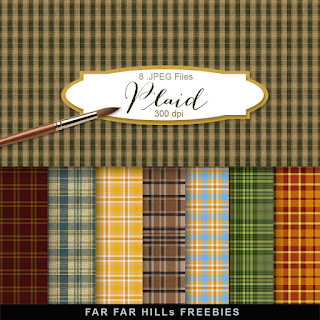 New Freebies Kit of Backgrounds - Plaid