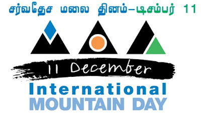 International Mountain Day December 11, 2018 - Theme and Notes