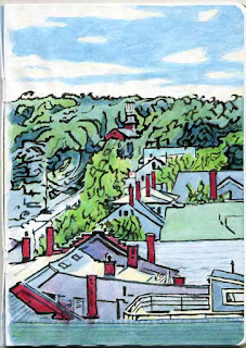 """Damariscotta"" - Watercolor by Paul Sherman"