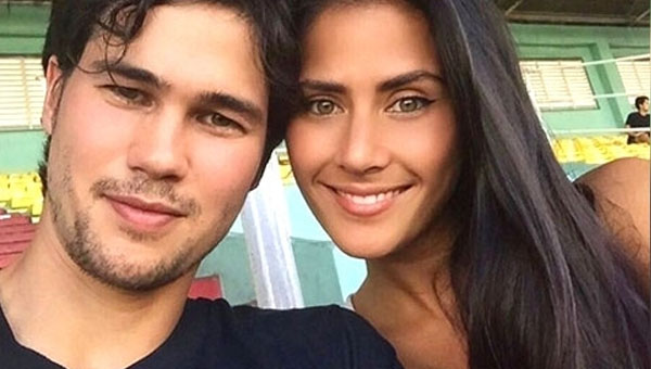 Phil Younghusband is deliriously happy with his girlfriend