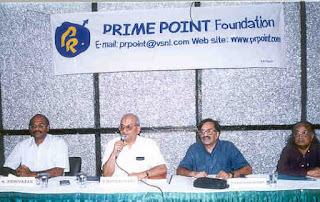 L to R : K. Srinivasan, N Rangachary,S R Krishnaswamy, Dr S Krishnaswamy