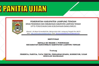 Contoh SK Panitia Ujian (USBN, UNBK) 2019