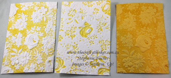 #thecraftythinker #stampinup #countryfloral #saleabration2019 #cardmaking #embossingtechniques , Country Floral Embossing Folder, Sale-A-Bration, Stampin' Up Australia Demonstrator, Stephanie Fischer, Sydney NSW