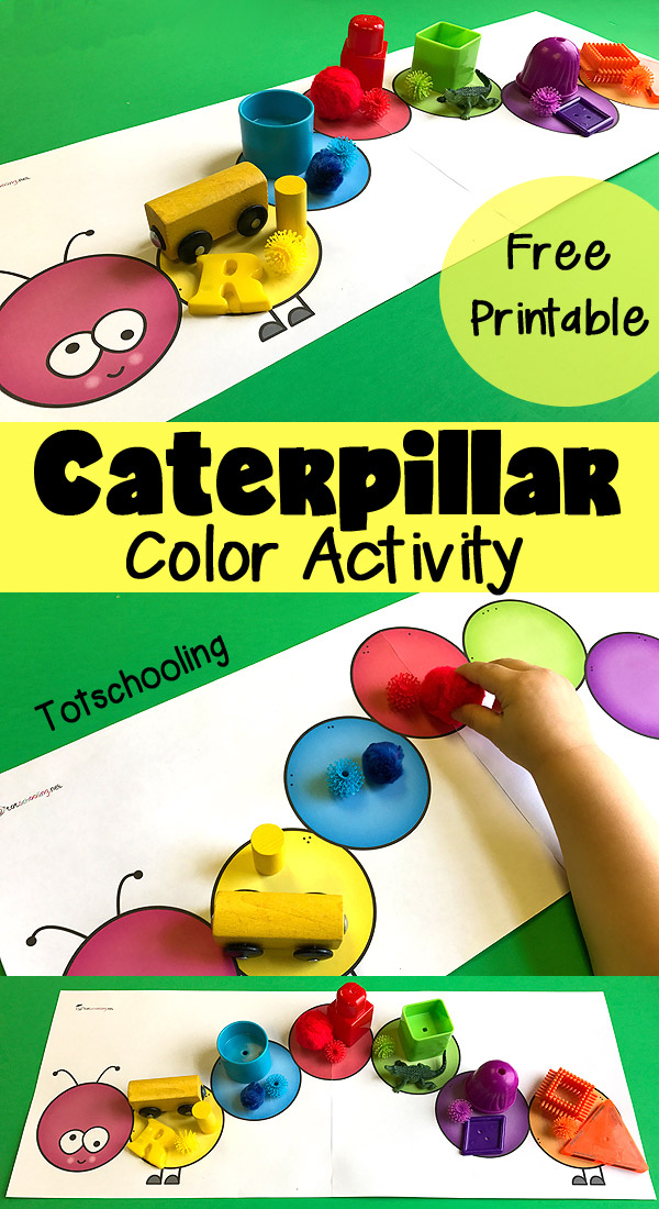 caterpillar color matching sorting for toddlers totschooling