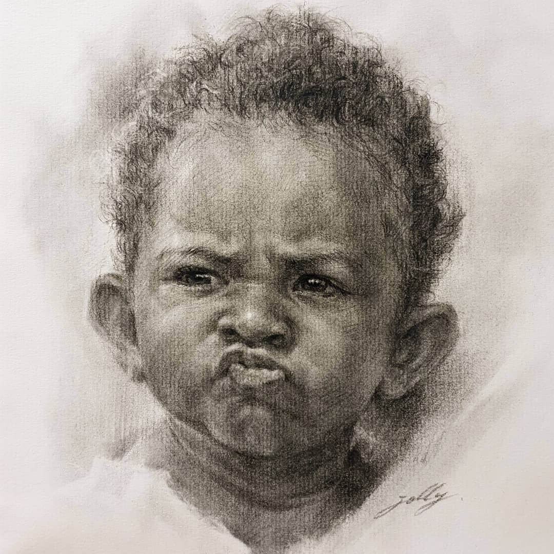10-Jori-Charcoal-Portraits-of-Young-and-Old-plus-a-Clown-www-designstack-co