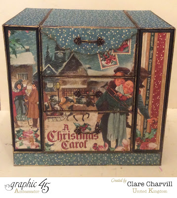 Christmas Carol Organiser Chest Kit by Clare Charvill Graphic 45