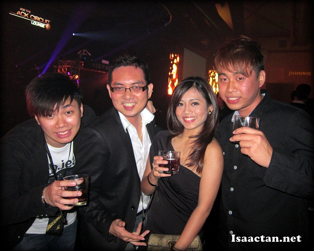 Bloggers at Johnnie Walker Black Circuit Lounge 2012