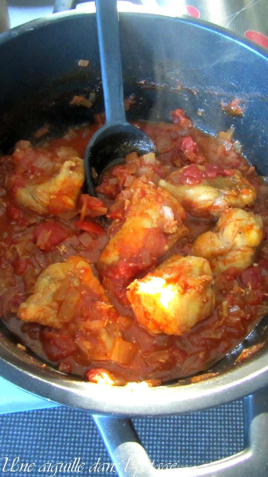 Queue de lotte au cidre et à la tomate