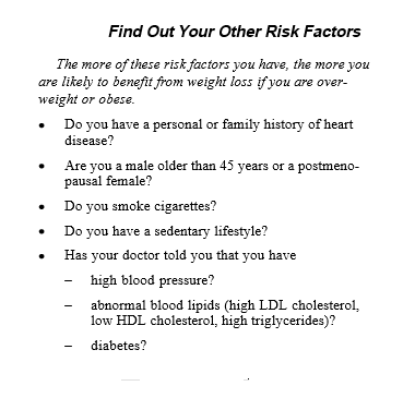 Find Out Your Other Risk Factors