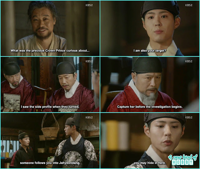 chil min saw ra on in the palace and give tip to premiere kim and crown Prince hide ra on in a secret room which his late mother used time to time  - Love In The Moonlight - Episode 16 Review (Eng Sub) park bo gum & kim you jung