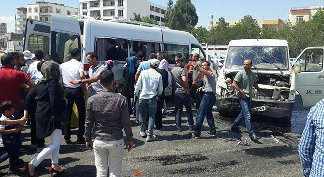 Bismil'de hasımlarından kaçan şahıs kaza yaptı