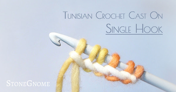 Tunisian Crochet Cast On - Single Hook