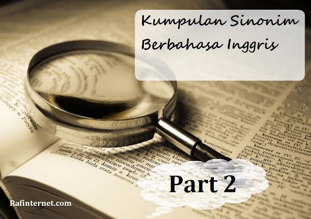 pict of kumpulan sinonim berbahasa inggris - part 2