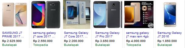 Harga Samsung J7 Terbaru 2018 bukalapak