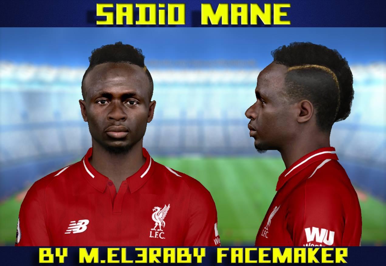 PES 2017 Sadio Mane Face by M.Elaraby Facemaker