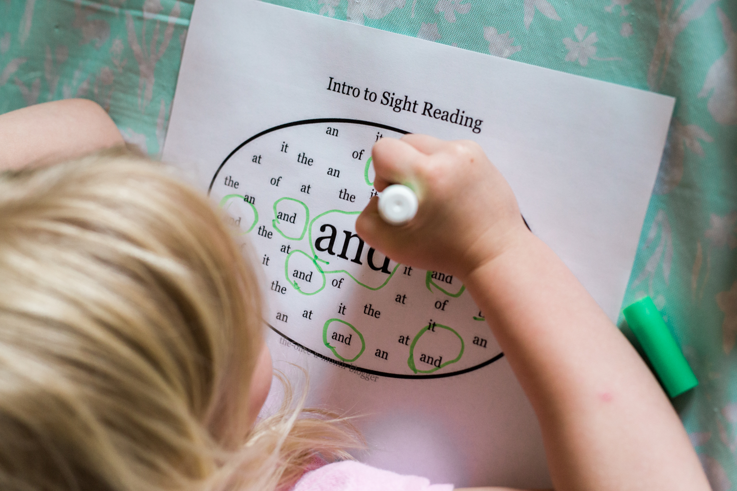 The Once A Month Blogger Free Sight Word Worksheets