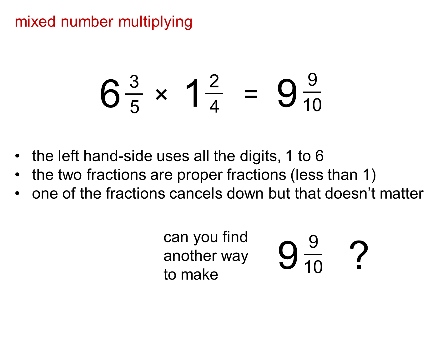 how to make a fraction into a mixed number