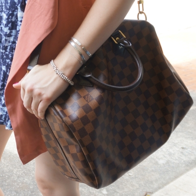 Louis Vuitton Damier Ebene 30 speedy bandouliere | Away From The Blue