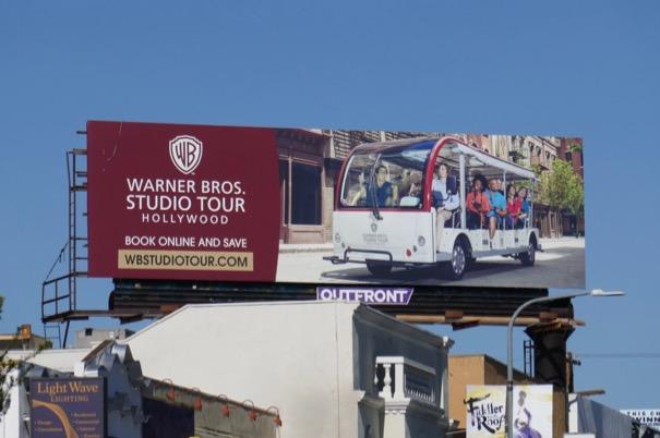 Warner Bros Studio Tour Hollywood billboard