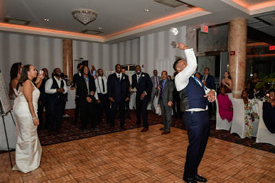 The Garter Tossing by the Groom