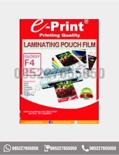 Plastik Laminating Film Eprint F4, alat tulis sekolah, 0852-2765-5050