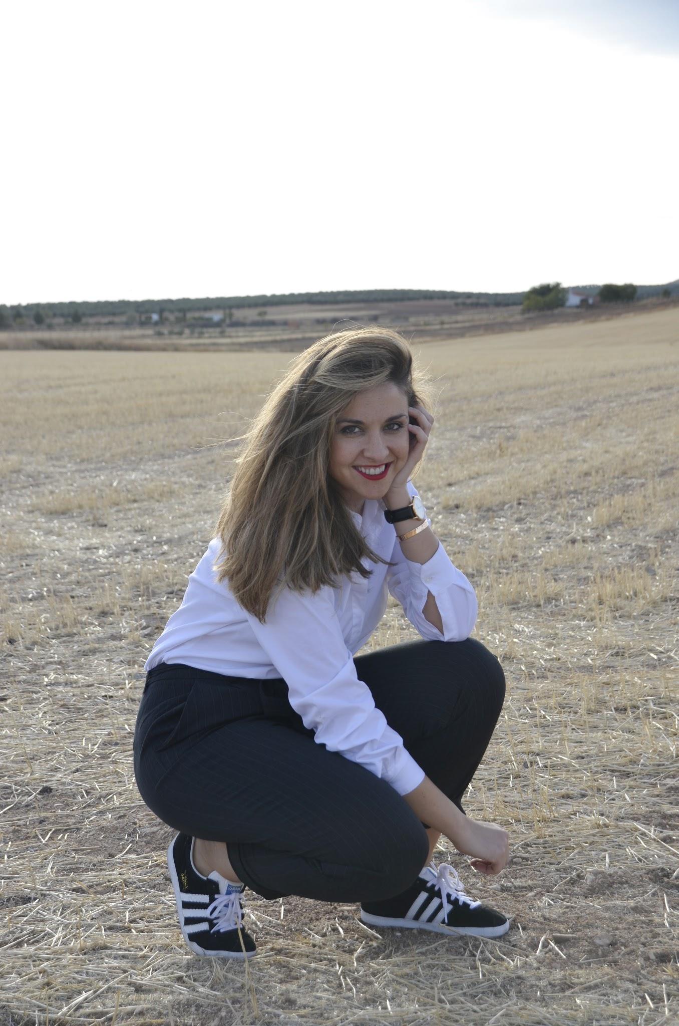 adidas gazelle blancas y negras para mujer