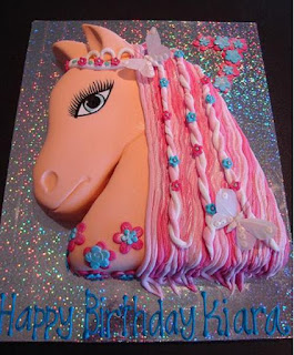 kue ultah tema kuda untuk wanita