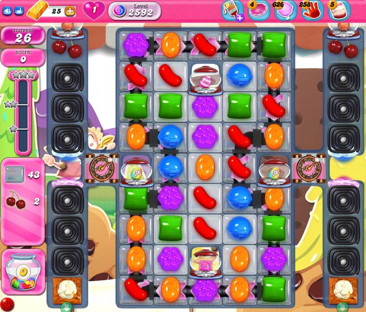 Candy Crush Saga level 2592