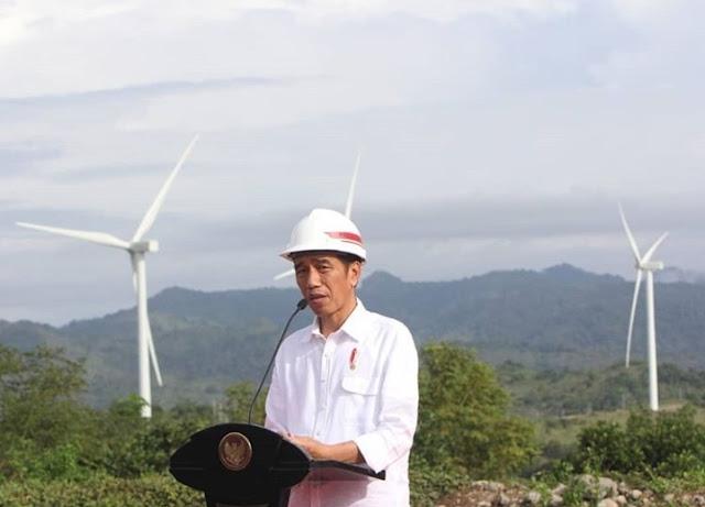 """Resmikan """"Kebun Angin"""" Raksasa Pertama di Indonesia, Presiden Jokowi : Seperti di Eropa, Ternyata  di Sidrap"""