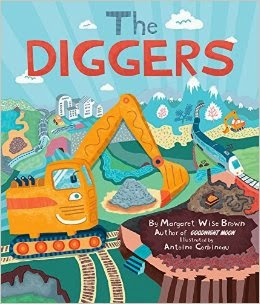 Book cover showing diggers trains tunnels etc