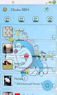 Download BBM v2.9.0.51 Mod Tampilan Doraemon, Mudah dan Gratis
