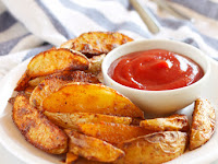 Crispy BBQ Potato Wedges