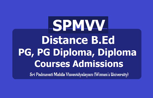 SPMVV Distance B.Ed, PG, PG Diploma, Diploma Courses, Sri Padmavati Mahila Visvavidyalayam-min