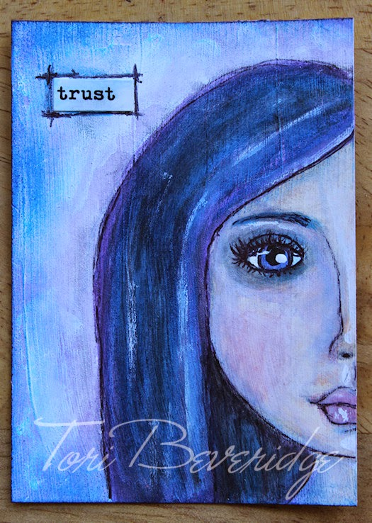 Trust Half Face by Tori Beveridge