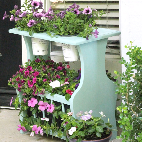 Magazine Stand Turned Planter